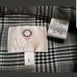 viyella Shirts - Viyella Mens Shirt Wool Blend Long Sleeve Plaid